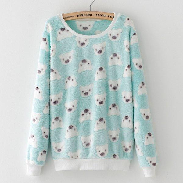 Cute Bear Elephant Star Harajuku Brand Hoody Women Sweatshirt Full Sleeve Fashion Pullover Soft Flannel Feminino Sudaderas Mujer
