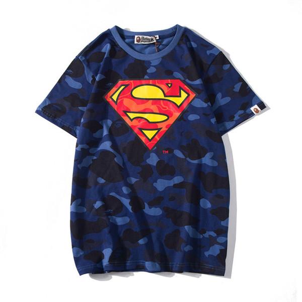 Camiseta para hombre Impresión de triángulo Camuflaje T Moda Adolescentes Ocio Camisetas Manga corta 2019