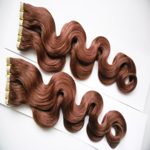 200g Machine Made Tape Hair 100% Human Hair Extensions Remy 80pcs body wave Invisible Skin Weft PU Tape On Hair Extensions
