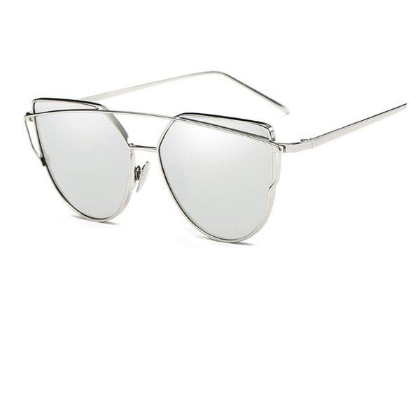 New Cat Eye Girl Sunglasses Brand Designer Female Alloy Mirror Sun Glasses For Women Optical Frames Oculos gafas de sol mujer