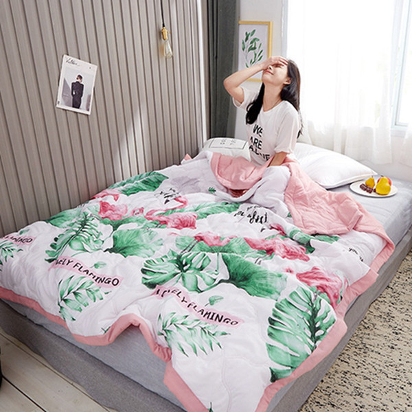new natural stripe washed cotton quilted air conditioning summer quilt cool thin quilt bedspread blanket bedding