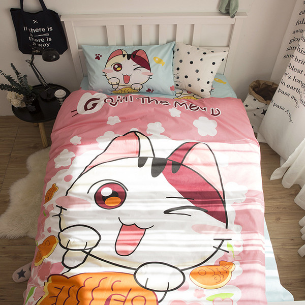 3 PCS Animal Bed Set (1Duvet Cover 1Flat Sheet 1Pillow Case) Cotton Twin Size Baby Crib Bedding Sets Eco-friendly 3D Printed