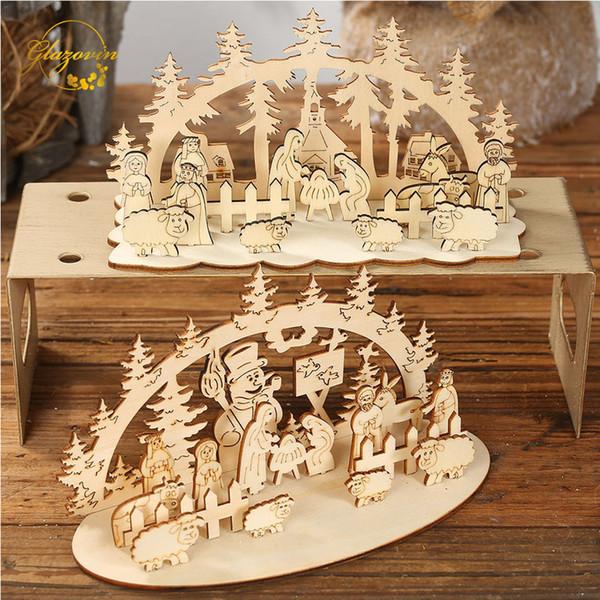 Счастливого Рождества Деревянные Украшения Украшения Дома Письма Рождественская Елка Diy Украшения Новый Год 2020