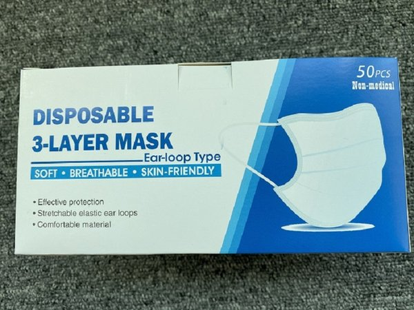 top popular With packaging Box Factory Disposable Face Masks 3-Layer Dustproof Face Mouth Masks Anti PM2.5 Safety Face Care Elastic Men and Women Masks 2020