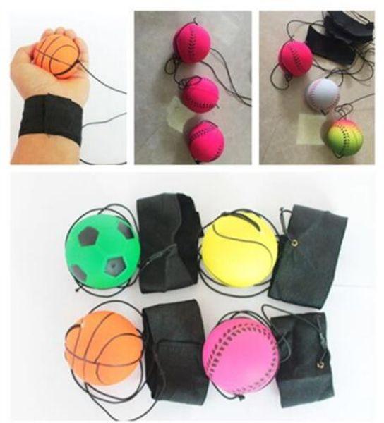 2019 barato baixo preço 5 Estilo Brinquedos Divertidos Bouncy Bola de Borracha Fluorescente Banda de Pulso Bola Jogo de Tabuleiro Engraçado Bola Elástica treinamento Antistress