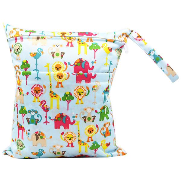 30 * 36 cm saco de fraldas do bebê Dois Zippered Saco de Fraldas Do Bebê Fralda Reutilizável bolso fralda do bebê sacos de viagem saco KKA7083
