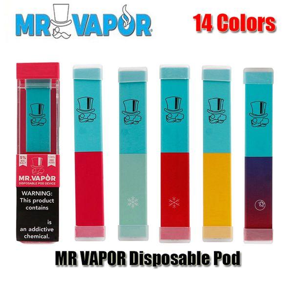 best selling MR VAPOR Disposable Device Pod Starter Kit 280mAh Battery 1.2ml Pre-filled Cartridge Pods Vape Empty Pen VS Puff Pop Bar Plus Glow