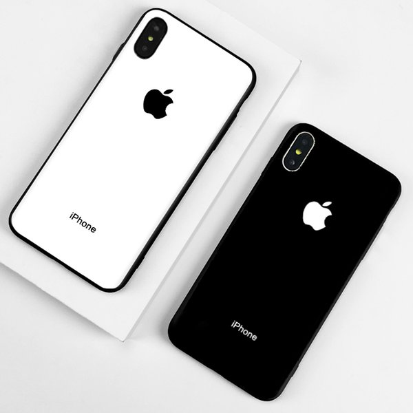 Designer Phone Case for Iphone 6/6s,6p/6sp,7/8 7p/8p X/XS,XR,XSMax Fashion Classic Apple Logo Luxury Back Cover Hot Sale Balck and White