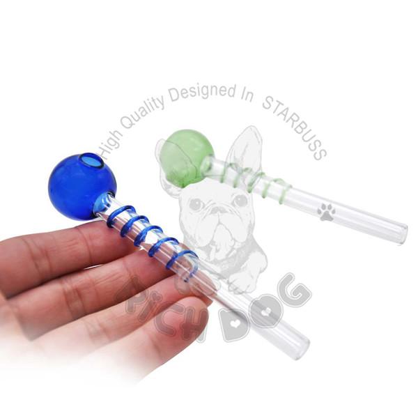 HoneyPuff Mais Novo tubo de Queimador de óleo Em Espiral de vidro grande Pyrex Grosso colorido Queimador De Óleo De Vidro Tubo De Vidro Tubo Queima de Óleo