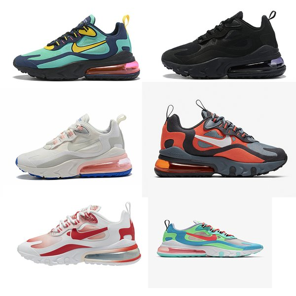 2019 Bleached Coral 270 React Mens Running Shoes Grey And Orange In My Feels Bauhaus Optical Triple Black Men Women Trainer Sports Sneakers 36 46 From