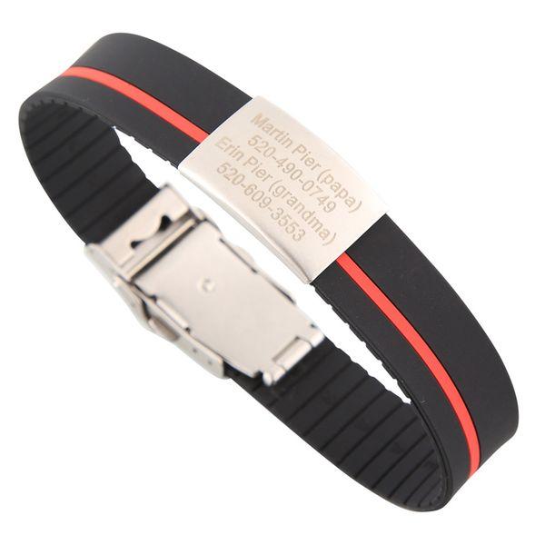 Black-Red stripe-Can be cut short