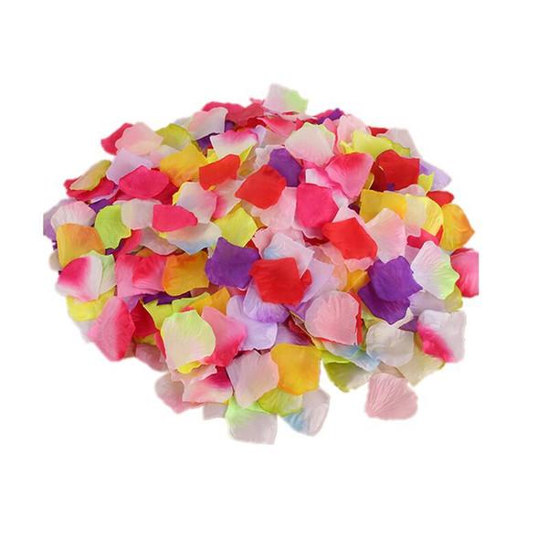 Imitación de la boda Pétalo de rosa Pétalos falsos Accesorios creativos de cumpleaños Sala de matrimonio Accesorios de cama de boda Flor de plástico Foto