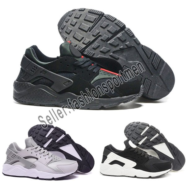 online store 3b54d b2d05 2019 2019 Classical Air Run Huarache 1 Running Shoes Triple White Black Red  Gold High Quality Huaraches Men Womens Sport Sneakers Eur From ...