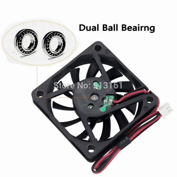 10pcs Gdstime 5V 60mm Dual Ball Fan 60mm x 10mm DC Brushless Cooling Cooler Fan for Industry PC CPU Computer Case