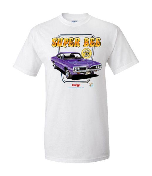 Dodge 1970 Super Bee / Mopar Hommes T-shirt Adolescent Naturel Coton Imprimé T-Shirt Manches Courtes T-shirts En Coton Basketball Jersey