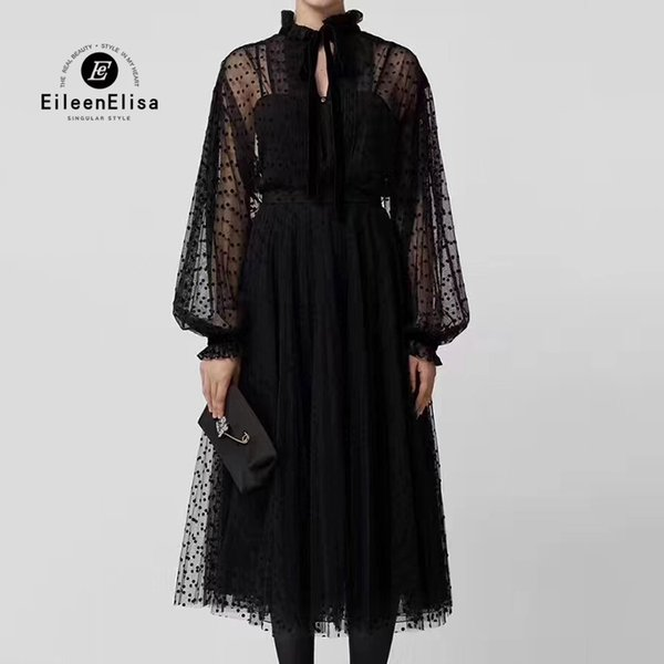 Women 2 Piece Set Transparent Lace Shirt And Long Skirt Ladies Skirt Sets Casual Black Women Suit