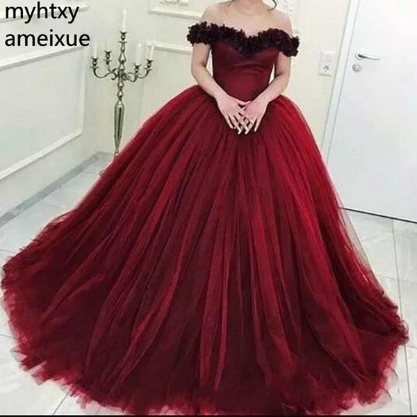 Burgundy 2019 Sexy Evening Dresses Long Tulle African Formal Evening Prom Party Gown Wear Robe De Soiree Plus Size Red China
