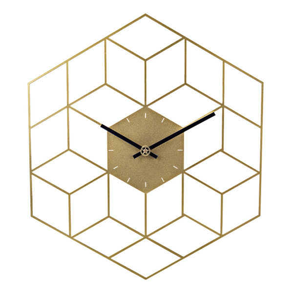 square wall deor.htm 35 x 40cm creative iron cube wall clock timer watch battery  cube wall clock timer watch battery
