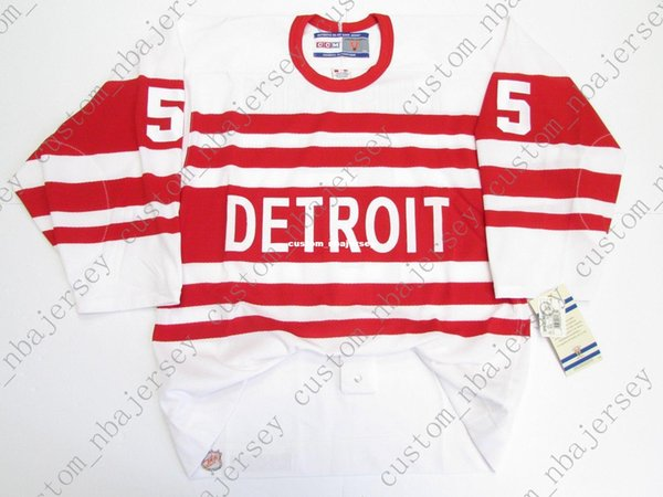 Cheap custom NICKLAS LIDSTROM DETROIT RED WINGS 1992 VINTAGE CCM 6100 JERSEY stitch add any number any name Mens Hockey Jersey XS-5XL