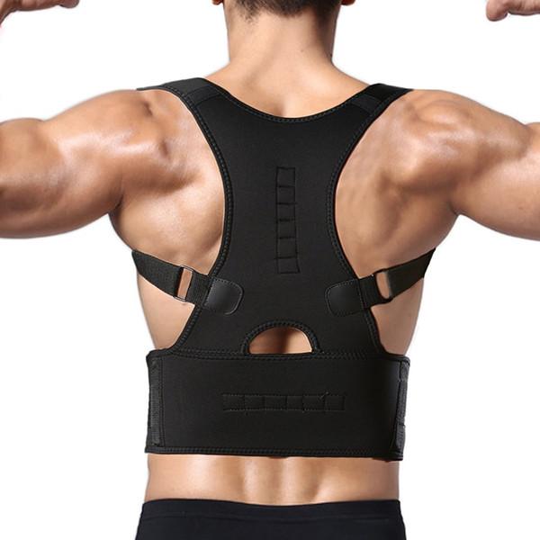 CROSS1946 Neoprene Magnetic Therapy Adjustable Back Brace Posture Corrector Lumbar Support Shoulder Belt For Men/ Women Braces #18032