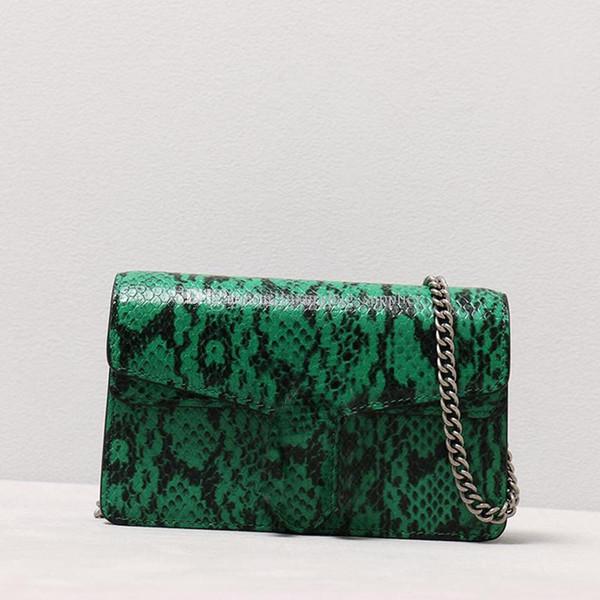 Luxury Designer Woman Bags Wallet Handbags Fashion Bacchus Snake Skin Tiger's Head Spurs Buckle Crystals Lady Chain Crossbody Bag