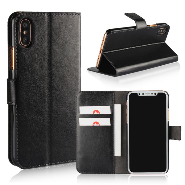 Leather Flip Case For iphone XS MAX XR X 7 8 Plus Card Slots Wallet Cover For Samsung S9 S8 Plus A3 A5 A7 J3 J5 J7 2017 Phone Case Funda