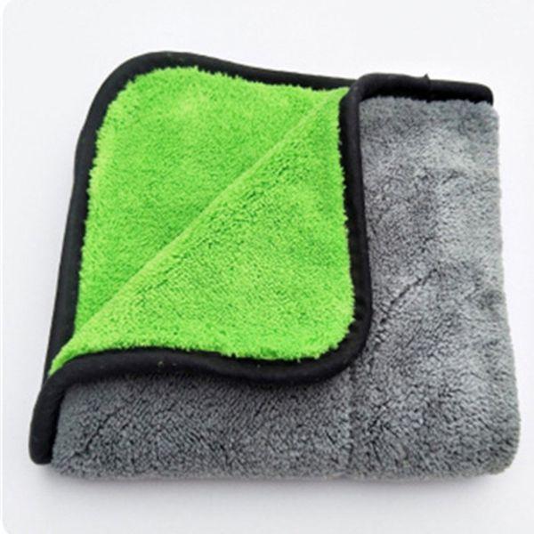 Eindickung Double Side Coral Velvet Super Absorbent Car Wash Tuch-Auto-trocknendes Tuch Pflege Tuch waschen Handtuch Hot