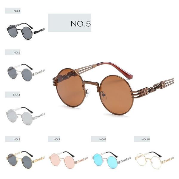 Sonnenbrille Mode kleinen runden Metall Damen Im Freien Sonnen Brille Gro?handel