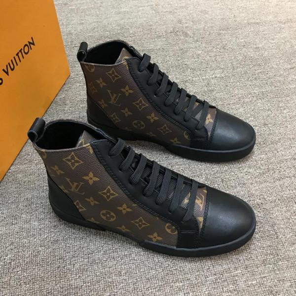 Match-Up Sneaker Boot Mens High Top Trainer Marca de lujo Diseñador de moda Zapatos Match Up Sneakers Lace Up Athletic Zapatos de senderismo al aire libre