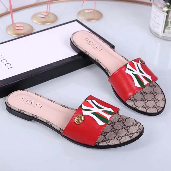 2019 Summer women slippers slip on round toe flat slides sandals women white black leather slippers flip flops slippers