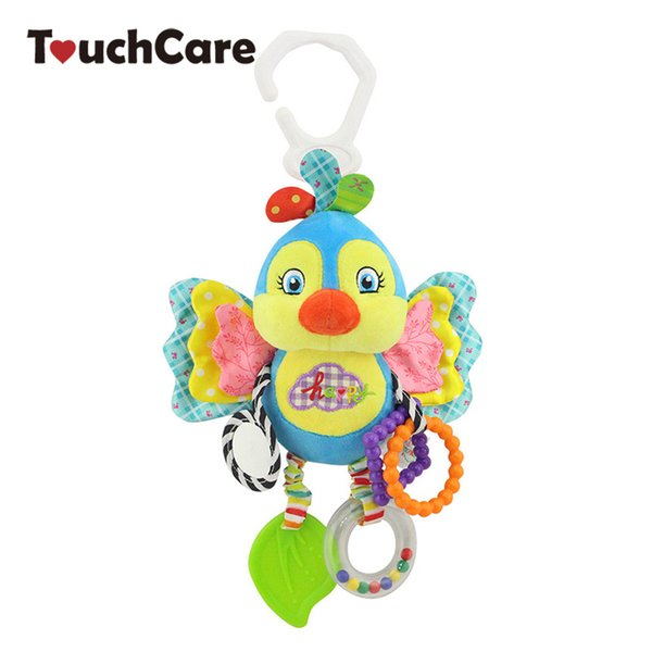 ouchCare Cartoon Animal Baby Rattles Mobile Plush Toys Soft Teether BB Bell Ring Paper Stroller Infant Car Bed Hanging Rattle TouchCare C...