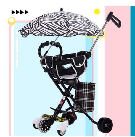 2019 novo carrinho de bebê crianças triciclo 1-3-6 anos de idade leve carro dobrável