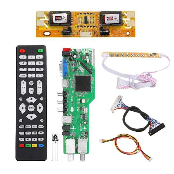 Digitales Signal DVB-S2 DVB-C DVB-T2 / T ATV Universal LCD-TV-Controller Treiberplatine Upgrade USB-Wiedergabe D3663Lua