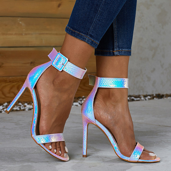 Impressed2019 Сандалии Year Woman Fine с высоким каблуком 40-42 Will Code Toe Женская обувь