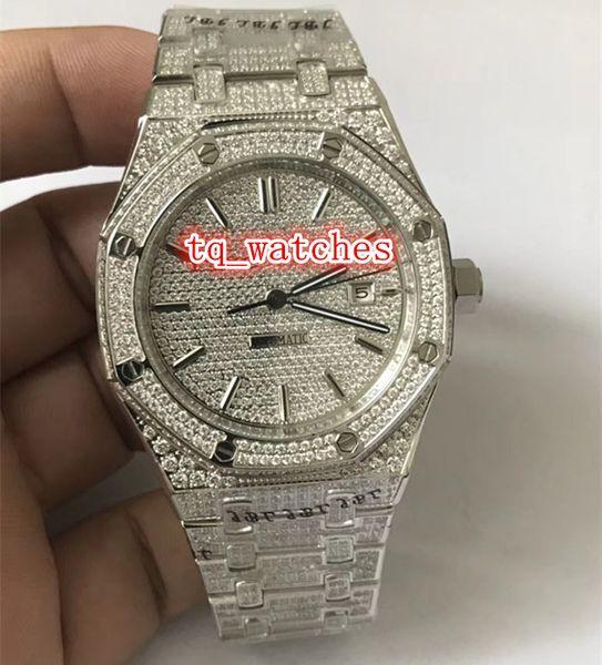 Конечная роскошь мужская мода часы Ice Diamond часы Diamond лицо часы автоматические механические Мужские водонепроницаемые часы