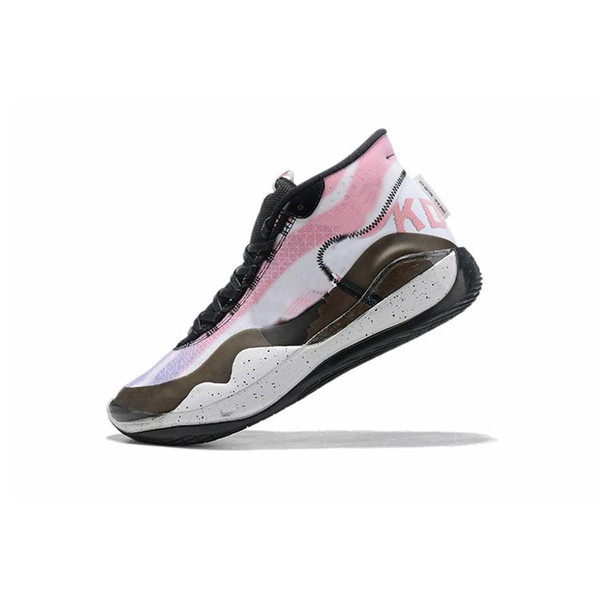 cheap mens kd 12 basketball shoes for sale Pink Aunt Pearl Floral Brown White kd12 new arrivals kevin durant xii sneakers tennis with box