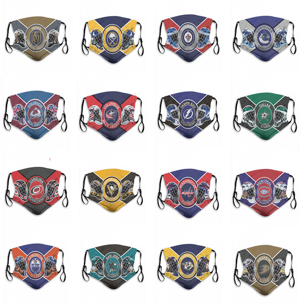 2020 new 5-layer protective mask ice hockey team blues coyotes rangers bruins predators capitals hurricanes stars jets sabres goldenknights