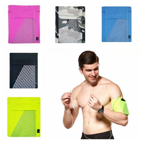 Antiskid Arm Pack Sport Phone Reflect Light Belt Cover Mini Side Pocket Stuffed Bags Running Camping Bag 5 Colors ZZA1033