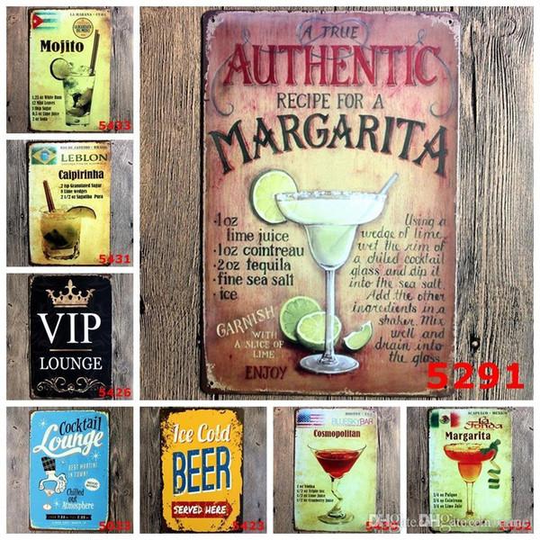 Cariel bière Vintage Craft Tin Peinture Métal Rétro Inscription Fer Antique Poster Bar Pub Signs Wall Art Sticker (conceptions courantes mixtes) wn514B 50pcB