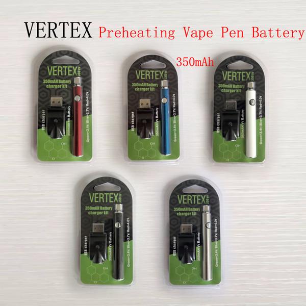 510 Batteria filo Vape Batteria Vertex 350mAh O-Pen Pen Voltage regolabile Batterie Vape per vaporizzatore Cartuccia olio cera