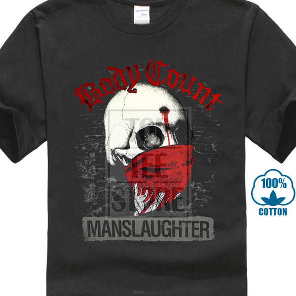 Body Count Manslaughter Chemise S M L XL XLXL Officl T Shirt Tshirt Metal Rock Band