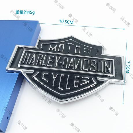 best selling New Car Metal Skull Sticker Modified Aluminum Alloy Material Harley Sticker for Car Body and Tail