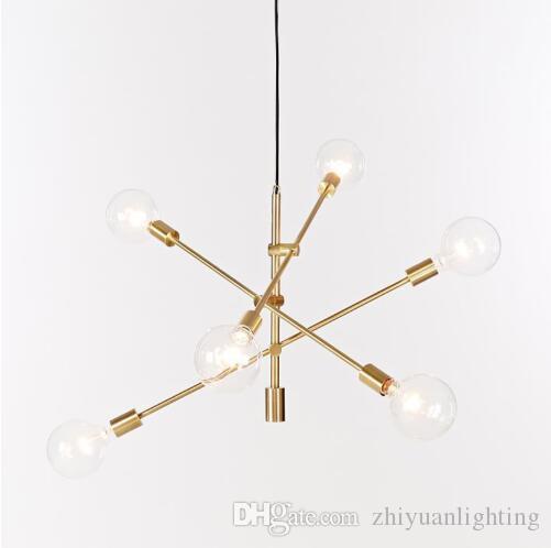 Pendentif boule de verre nordique postmoderne lumières or / chandeliers noirs E27 luminaire café restaurant salon décoration lampe