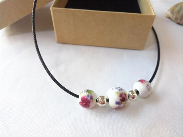 cecmic latest fashion ceramic beads necklaces in all categories for women in chokers customized jewelry supplier