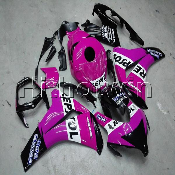 Regalos + Tornillos Moldeo por inyección repsol funda de moto rosa para HONDA CBR1000RR 2008 2009 2010 2011 motocicleta ABS Casquillo carenado