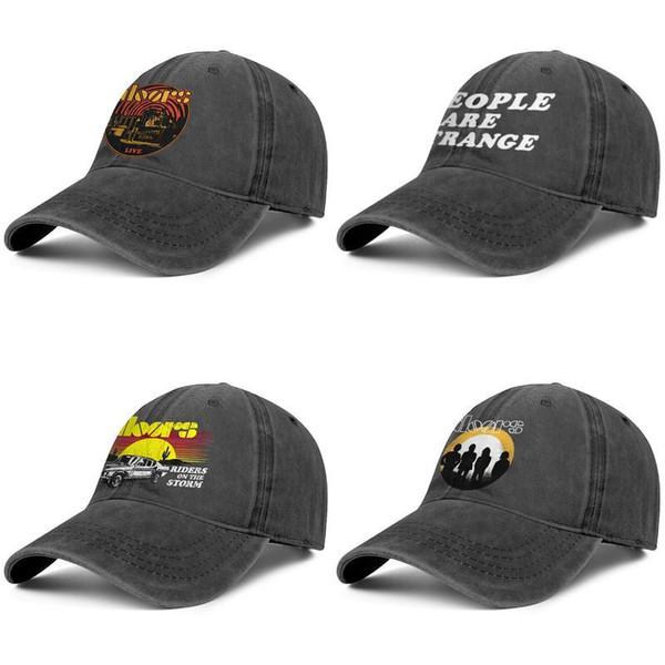The Doors Футболка Dusk Distressed Band Logo, черные шляпы, Ковбойская шляпа для мужчин и женщин Ковбойская бейсбольная форма, оборудованная спортивной кепкой