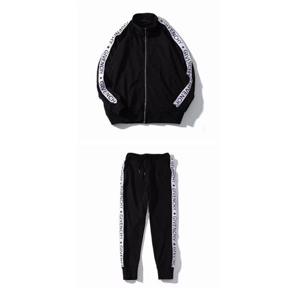 bapking / Homens Novos Fatos de Treino de Luxo Fatos de Treino Outono Marca Designer Mens Treino Ternos Jogger Jacket + Calças Conjuntos Terno Esportivo