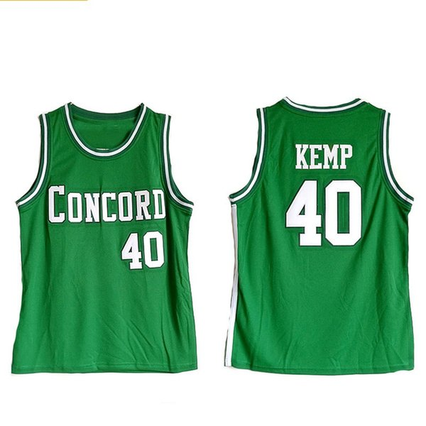 Concord Academy 40 Shawn Kemp HIGH SCHOOL costurado Basketball Jersey NCAA Basketball Shirts Uniform S-2XL Top Quality