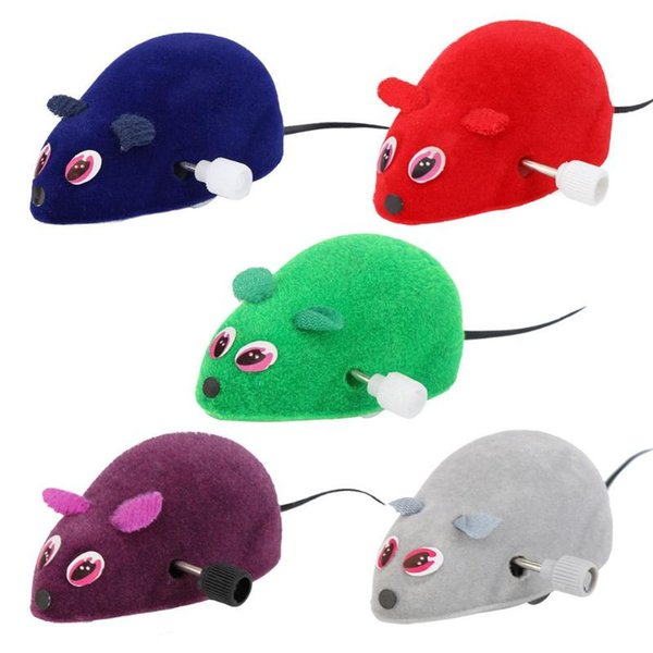 Funny Pet Cat Mice Toy Clockwork Mouse Rats Toy for Cat Kitten Interactive Plush Mouse Playing Funny Toys Products