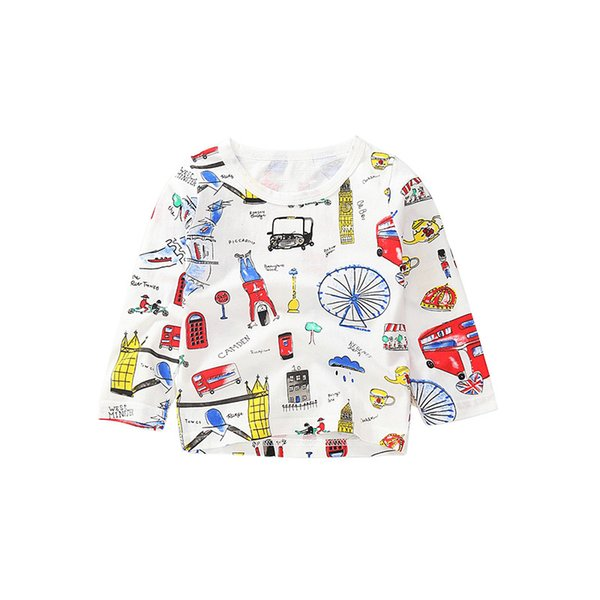 white t-shirt boys girls printing tee family graffiti long sleeve  baby girls outfit spring autumn toddler clothes - from $32.04